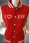 "Collegejacke ""i love fsv"""